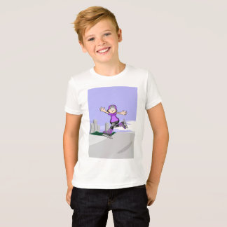Young skate on wheels jumps and ovations its T-Shirt