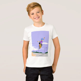 Young skate on wheels manages to make its better T-Shirt