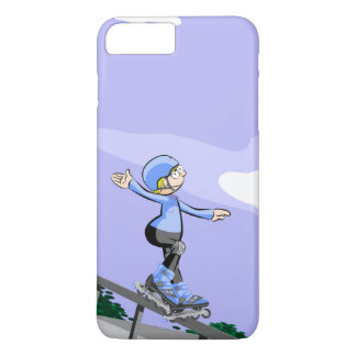 Young skate on wheels stopped in a railing Case-Mate iPhone case