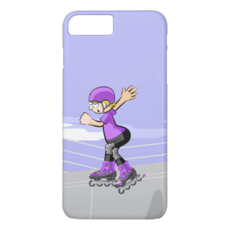 Young skate on wheels with winner attitude Case-Mate iPhone case