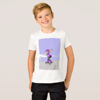 Young skate on wheels with winner attitude T-Shirt