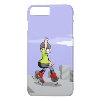Young skate on wheels zigzagging in the incline Case-Mate iPhone case
