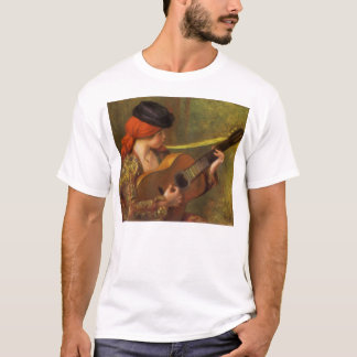 Young Spanish Woman with a Guitar by Pierre Renoir T-Shirt