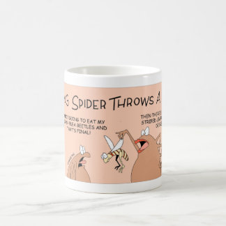 Young spider that won't eat his dinner coffee mug