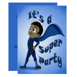 """Young Super Hero Birthday Invitation"" 5"" x 7"" Card"