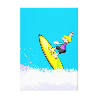 Young surf showing its great ability in the table canvas print