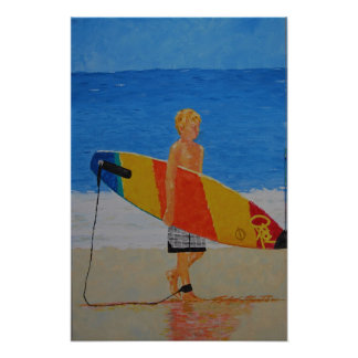 Young Surfer Poster
