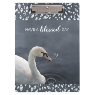 Young Swan & Feather Clipboard