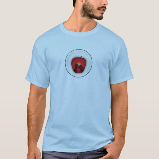 Young t-shirt Apple blue Kiss clearly