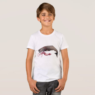 Young t-shirt Cachalote and giant calamary