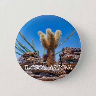 Young Teddy Bear Cholla 2 Inch Round Button