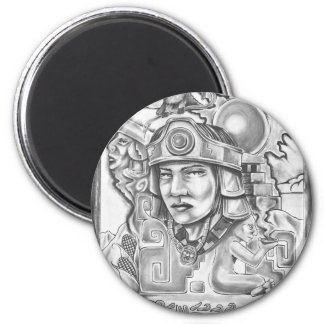 Young Toltec 2 Inch Round Magnet