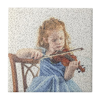 YOUNG VIOLIN PLAYER TILE