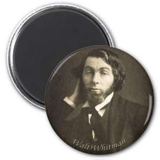 Young Walt Whitman 2 Inch Round Magnet