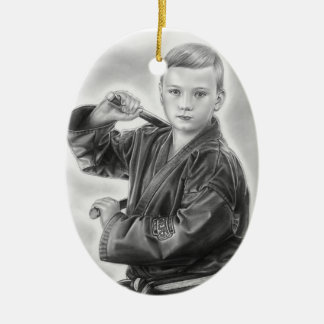 Young Warrior Ceramic Ornament