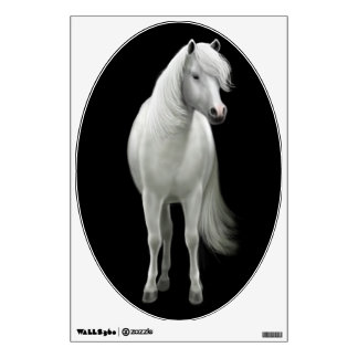 Young White Horse Wall Decal