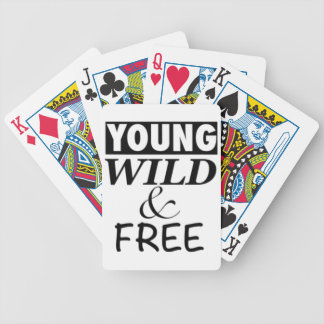 YOUNG WILD AND FREE BICYCLE PLAYING CARDS