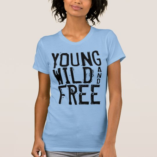 Young Wild and Free Ladies Tank Top Blue