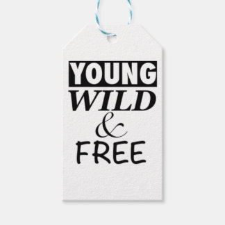 YOUNG WILD AND FREE PACK OF GIFT TAGS