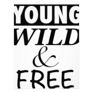YOUNG WILD AND FREE PERSONALIZED LETTERHEAD