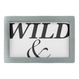 YOUNG WILD AND FREE RECTANGULAR BELT BUCKLES