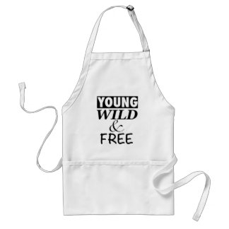 YOUNG WILD AND FREE STANDARD APRON