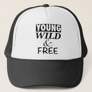 YOUNG WILD AND FREE TRUCKER HAT