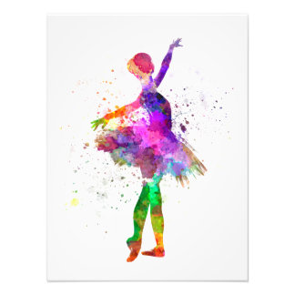 Young with t woman ballerina ballet to dancer danc photo print