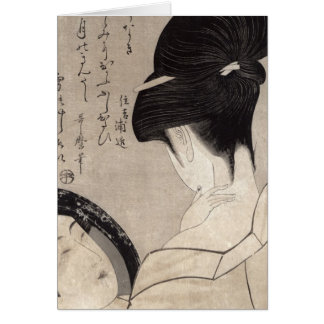 Young woman applying make-up, c.1795-96 card