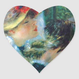 Young Woman at the Boating Party Heart Sticker