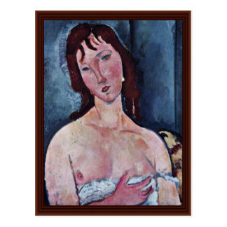 Young Woman By Modigliani Amedeo Postcard