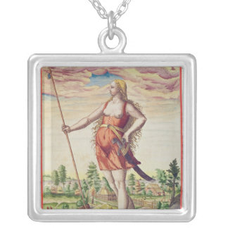 Young Woman from a Neighbouring Tribe to the Silver Plated Necklace