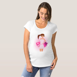 Young woman happy shopping Maternity T-shirt