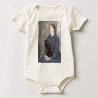 Young Woman Holding a Black Cat - Gwen John Baby Bodysuit