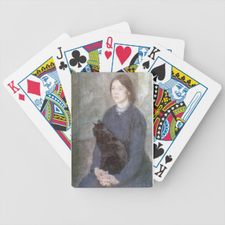 Young Woman Holding a Black Cat - Gwen John Bicycle Playing Cards