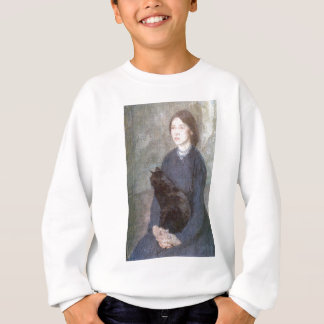 Young Woman Holding a Black Cat - Gwen John Sweatshirt