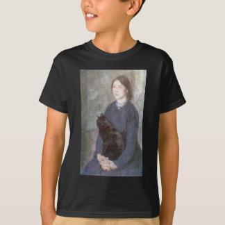 Young Woman Holding a Black Cat - Gwen John T-Shirt