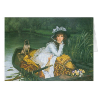 Young Woman In A Boat Card