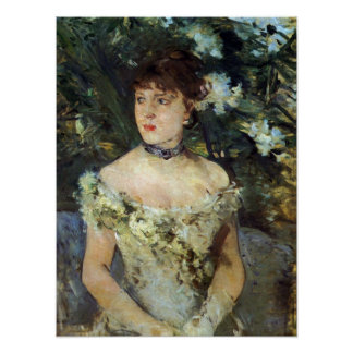 Young woman in a costume ball by Berthe Morisot Poster