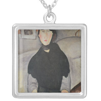Young Woman of the People Silver Plated Necklace