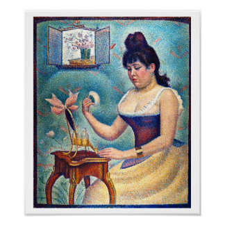 Young Woman Powdering Herself Poster