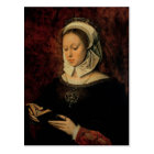Young Woman Reading a Book of Hours (oil on panel) Postcard
