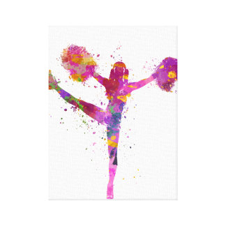 Young woman to cheerleader 04 canvas print