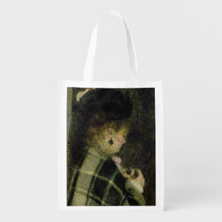 Young Woman with a Small Veil, c.1875 Reusable Grocery Bag