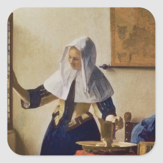 Young Woman with a Water Jug, c.1662 Square Sticker