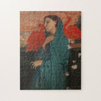 Young Woman with Ibis Jigsaw Puzzle