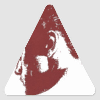 young Young woman black and red Triangle Sticker