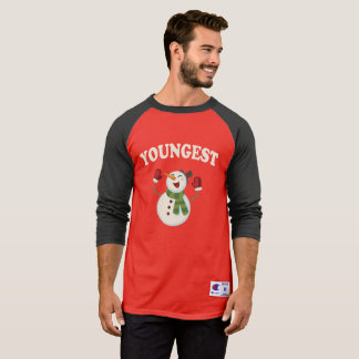 Youngest Brother Snowman T-shirt Pajama Family