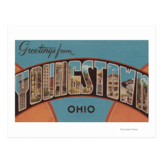 Youngstown, Ohio - Large Letter Scenes Postcard