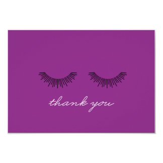 Younique Thank You note Purple Eyelashes Card